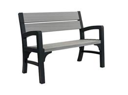 Allibert Bank Montero 2-Sitzer, graphit/brownish grey - 1