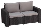Allibert Lounge Sofa California 2-Sitzer, graphit/panama cool grey - 1