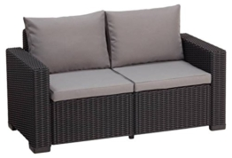 Allibert Lounge Sofa California 2-Sitzer, graphit/panama cool grey - 1