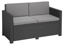Allibert Lounge Sofa Victoria 2-Sitzer, graphit/cool grey - 1