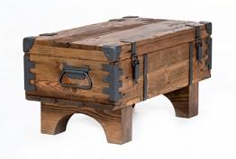 Alte Truhe Kiste Tisch shabby chic Holz Beistelltisch Holztruhe Couchtisch 37 cm Höhe / 38,5 cm Tiefe / 77 cm Breite - 1