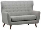 Amazon Marke -Rivet Hawthorne Modernes, getuftetes Zweisitzer-Sofa im Stil der 1950er Jahre, B 145cm, Silber - 1