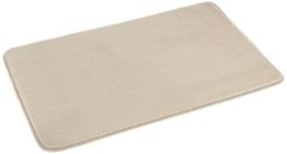 AmazonBasics Badematte aus Memoryschaum, 46 x 71 cm, Beige - 1