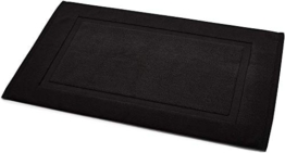 AmazonBasics Badvorleger mit rechteckiger Bordüre, Schwarz, 100% Baumwolle (1.200 g/m²), 51 x 79 cm - 1