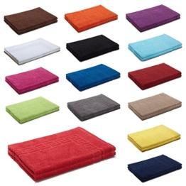 AR Line 2er Packung Duschvorleger Badvorleger Badematte 50 x 70 cm 100% Baumwolle 700 g/m², Farbe: Natur - 1