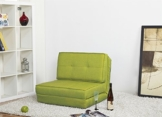ARTDECO Schlafsessel Gästebett Jugendsessel Bettsessel (Stoffbezug grün Klein) - 1