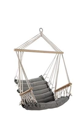 ASS Design Hängesessel Stoffsessel Schwebesessel Hängekorb Maly mit extrem gemütlichem 6cm dicken Sitzkissen und Armlehnen ohne Hängesesselgestell - 1