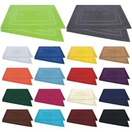 Badvorleger / Badematten / Badteppich - 2er Pack - Baumwolle 800g/m² - 50x80 cm - Farbe Royalblau - 1