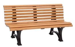 Blome Helgoland Gartenbank aus Kunststoff 3-Sitzer in Holzoptik 150 cm - 1