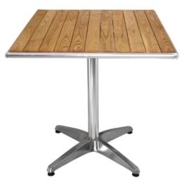 Bolero quadratischer Tisch Eschenholz 1 Bein 70cm - 1