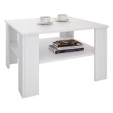 CARO-Möbel Couchtisch Wohnzimmertisch Felice in weiß mit Stauraum, 68 x 68 cm - 1