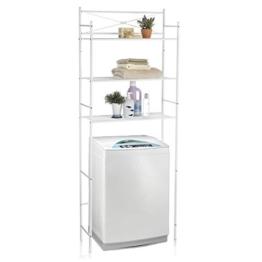 CARO-Möbel Toilettenregal MARSA Waschmaschinenregal Badezimmerregal Bad WC Stand Regal mit 3 Ablagen in weiß - 1
