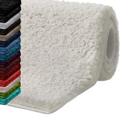 casa pura Badematte Hochflor Sky Soft | Weicher, Flauschiger Badezimmerteppich in Shaggy-Optik | Badvorleger rutschfest waschbar | schadstoffgeprüft | 16 Farben in 6 Größen (50x80 cm, Creme/Ivory) - 1