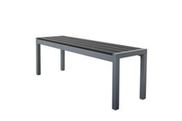 Chicreat Gartenbank, Silber Grau, Aluminium, 135x40x45cm - 1