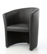 Design Cocktailsessel Sessel Clubsessel Loungesessel Club Möbel Bürosessel Praxismöbel schwarz - 1