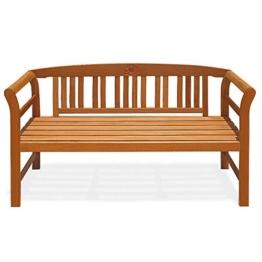 Deuba Gartenbank Rose 3-Sitzer FSC®-zertifiziertes Eukalyptusholz 150cm Bank Holzbank Sitzbank Parkbank - 1