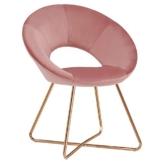 Duhome Esszimmerstuhl Stoffbezug (Samt) Rosa Pink Konferenzstuhl Besucherstuhl herausragendes Design Farbauswahl 439D - 1