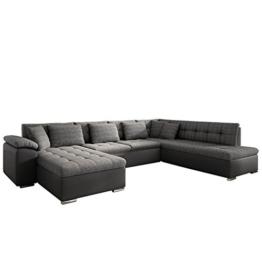 Eckcouch Ecksofa Niko Bis! Design Sofa Couch! mit Schlaffunktion und Bettkasten! U-Sofa Große Farbauswahl! Wohnlandschaft vom Hersteller (Ecksofa Links, Soft 020 + Majorka 03) - 1