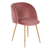 EGGREE 1er Set Vintager Retro Sessel Polstersessel Samt Lounge Sessel Clubsessel Fernsehsessel (Stieg rot) - 1