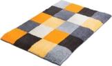 Erwin Müller Badematte, Badteppich, Badvorleger rutschhemmend gelb Größe 60x90 cm - kuscheliger Hochflor, für Fußbodenheizung geeignet (weitere Größen) - 1