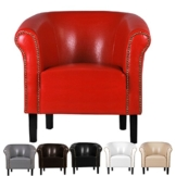 FORTISLINE Sessel Clubsessel Loungesessel Cocktailsessel Monaco Rot W287 03 - 1