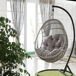 Ganmaov Schaukel hängenden Korb Sitz Sofa Kissenbezüge, Large Size verdicken Hängesessel Auflage für Heim (Nur Kissen) - 1