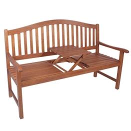 Gartenbank 3-Sitzer Phuket aus geöltem Eukalyptusholz - 1
