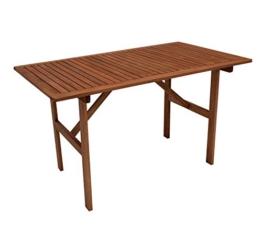 gartenmoebel-einkauf Gartentisch 70x120cm, Eukaylptus geölt, FSC®-Zertifiziert - 1