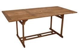 Gartentisch KORFU 90x180cm rechteckig, Akazie geölt - 1