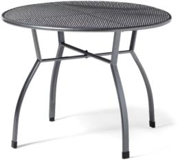 greemotion Gartentisch Toulouse rund, Ø ca.100 cm, pflegeleichter Tisch aus kunststoffummanteltem Stahl, Esstisch mit Niveauregulierung, eisengrau, 100 x 100 x 72 cm - 1