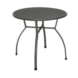 greemotion Gartentisch Toulouse rund, Ø ca. 80 cm, pflegeleichter Tisch aus kunststoffummanteltem Stahl, Esstisch mit Niveauregulierung, eisengrau - 1
