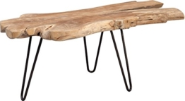 HomeTrends4You Tallus Couchtisch, Holz, Teak, 100 x 40 x 40 cm - 1