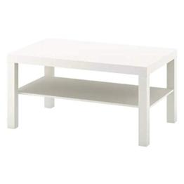 IKEA Lack Couchtisch in weiß; (90x55cm) - 1