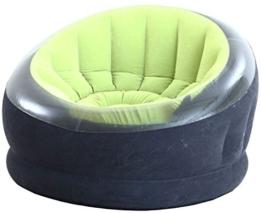Intex Empire Chair Aufblasmöbel - Aufblasbarer Sessel - 112 x 109 x 69 cm - Farblich Sortiert - 1