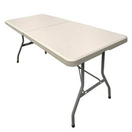 JOM Klapptisch Campingtisch Buffettisch Gartentisch Falttisch klappbar Tisch 183x75x74 cm - 1