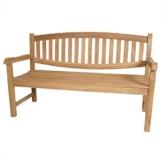 KMH®, Teak 3-sitzer Gartenbank Newcastle 150 cm (#102145) - 1