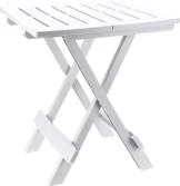 Kunststoff Beistelltisch Kleiner Klapptisch Gartentisch Tisch Camping Weiß - 1