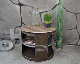 Livitat® Couchtisch Beistelltisch Metall Ölfass Vintage Industrie Look LOFT Shabby LV5022 - 1