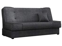 Mirjan24 Schlafsofa Gemini mit Bettkasten, 3 Sitzer Sofa, Couch mit Schlaffunktion, Bettsofa Schlafsofa Polstersofa Farbauswahl Couchgarnitur (Enjoy 24) - 1