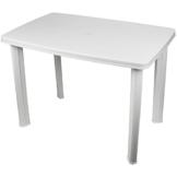 Multistore 2002 Robuster Gartentisch 101x68cm, Kunststoff, Weiß, Campingtisch Beistelltisch - 1