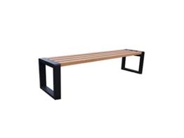 Outdoor Sitzbank Grande ohne Lehne, Robust und Wetterfest, Holz und Metall (verzinkt) Verschiedene Größen und Farben (Pinia, 100) - 1