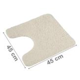 PANA Flauschiger WC Vorleger MIT Ausschnitt   Badematte in versch. Farben und Größen   Badteppich aus weichen Mikrofasern - rutschfest & waschbar 45 x 45 cm - 1