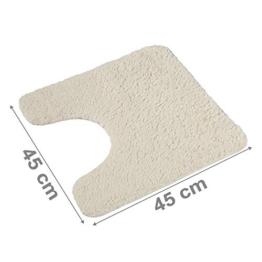 PANA Flauschiger WC Vorleger MIT Ausschnitt | Badematte in versch. Farben und Größen | Badteppich aus weichen Mikrofasern - rutschfest & waschbar 45 x 45 cm - 1