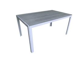Pure Home & Garden Aluminium Gartentisch Fire Oblong mit Polywood Tischplatte, 100x70 cm absolut wetterfest, Silber aus dem Hause - 1