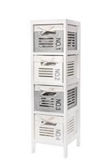Regal Badregal mit Vier Körben weiß WS630 - 1