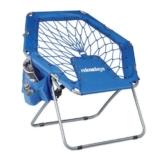 Relaxdays Bungee Stuhl WEBSTER, elastisch, Faltbar, bis 100 kg, Seitentasche, Outdoor Gartenstuhl, Klappstuhl, Blau - 1
