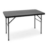 Relaxdays Gartentisch klappbar BASTIAN, rechteckig H x B x T: 74 x 121,5 x 61,5 cm, Metall, Kunststoff, Rattan-Optik, schwarz - 1