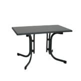Ribelli Klapptisch Esstisch Gartentisch 110x70x70cm - klappbarer Tisch für den Garten, als Beistelltisch oder Campingtisch mit Niveauregulierung witterungsbeständig Farbe:(anthrazit) - 1