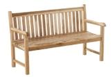 SAM 3 Sitzer Gartenbank Caracas, Sitzbank aus Teak-Holz, 150 cm, Massive Holzbank, für Balkon oder Garten - 1