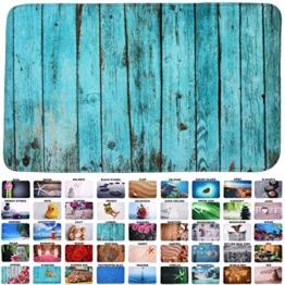 Sanilo Badteppich I viele schöne Badematten zur Auswahl I Badvorleger sehr weich und rutschfest I waschbar und schnelltrocknend (50 x 80 cm, Lumber) - 1